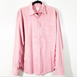 J Crew Button Front L Sunwashed Oxford Long Sleeve